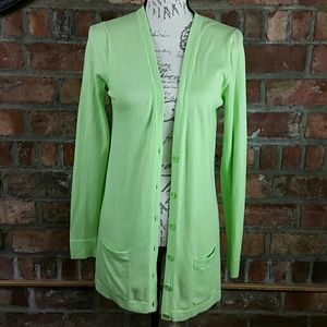 Old Navy light green long v neck cardigan